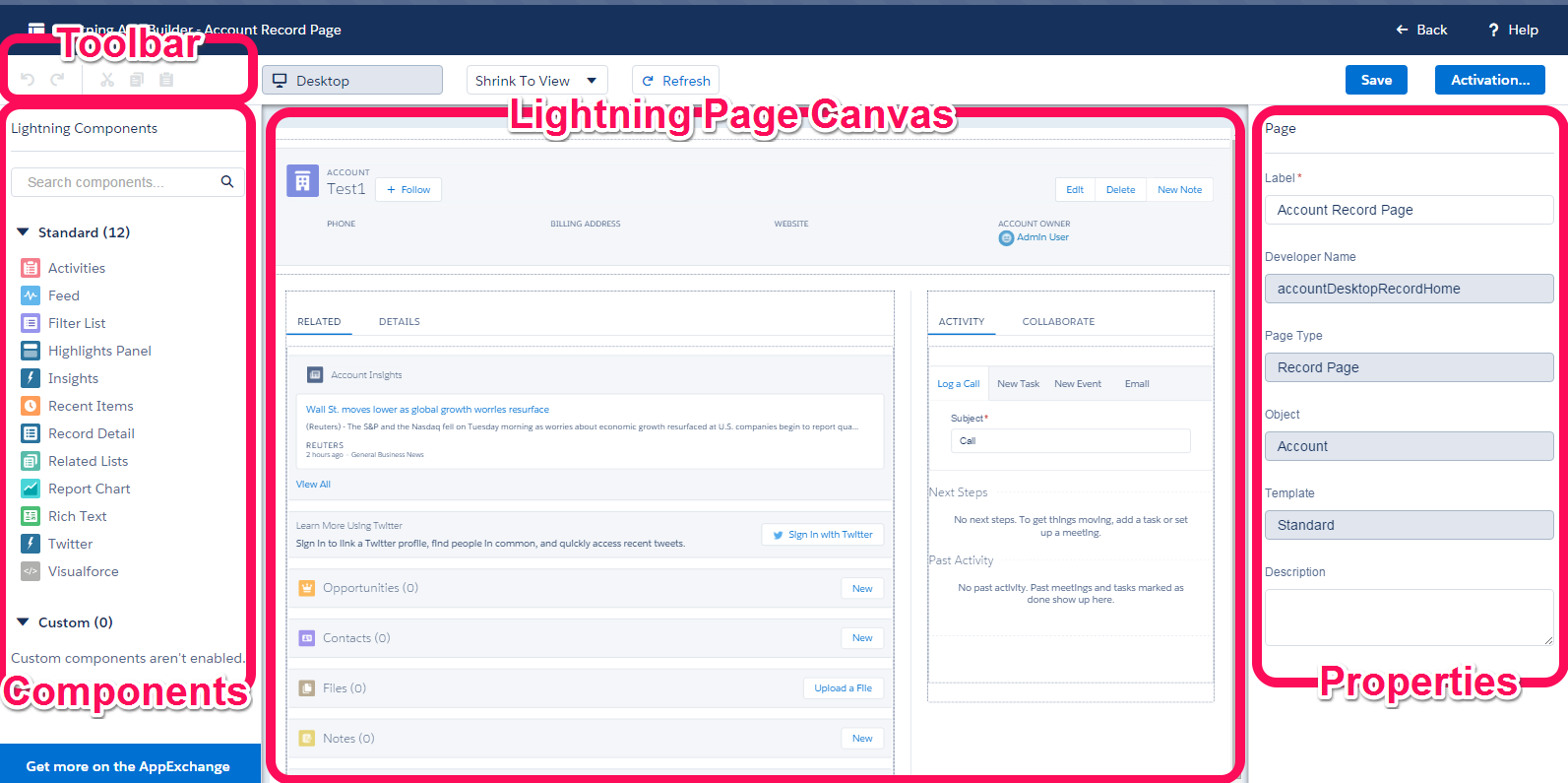 salesforce lightning intro part two lightning app builder